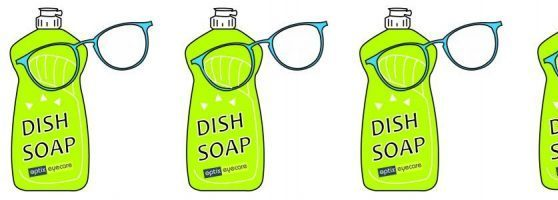 Wash your glasses with dish soap